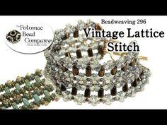 DIY Vintage Lattice Stitch Bracelet