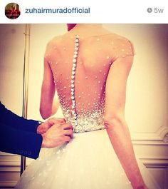 The back of this wedding dress