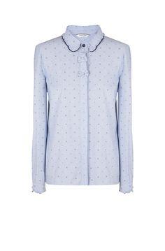 Naf naf chemise motif ancre marine bleu nuit 1