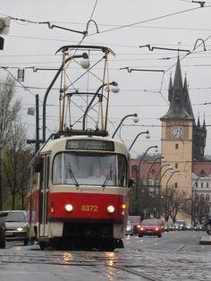 My beloved red tram in Prague - Prague Old Town, Prague