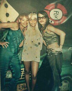 "Lovely ladies of music Aaliyah Haughton, Lil Kim and Lisa ""Left Eye"" Lopes making us nostalgic!!"