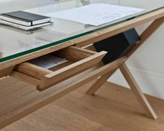 simple office desk, add another leaf to make an L- shaped desk and have the second desk be a drafting desk.