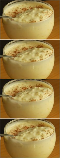 Cook rice in water with cloves and orange peel, # recipe # cake # pie # sweet # dessert # birthday # pudding # mousse # pave # Cheesecake # chocolate # confectionery # <-> <-> Köstliche Desserts, Delicious Desserts, Dessert Recipes, Yummy Food, Rice Recipes, Sweet Recipes, Cooking Recipes, Portuguese Recipes, No Cook Meals