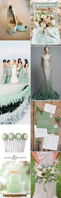 A stunning seafoam color scheme will create a completely unique, contemporary and unforgettable wedding day. It's the perfect option if you are planning a summer wedding, especially if it's at the seaside!