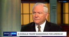 Robert Gates, the U.S. Secretary of Defense from 2006 to 2011, said Thursday that he would not be comfortable if Donald Trump had control over the launch codes for nuclear weapons. Gates sounded off on the presumptive Republican presidential candidate during a wide-ranging interview with Yahoo Global
