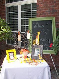 birthday party memories idea - giraffe theme