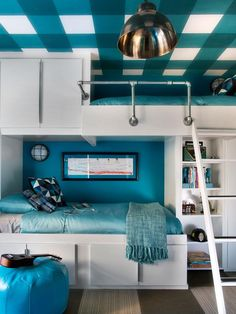 How to Make Bunk Beds and Bedroom Storage With Ready-Made Cabinets - on HGTV