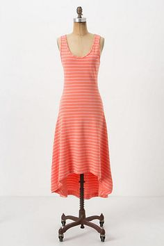 Anthropologie Striped Terry Midi Dress XS