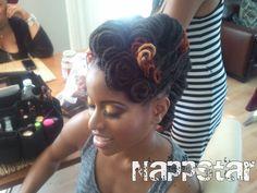 "nappstarrocks: ""NappStar owners Annette and Melissa prepare a model for a photo shoot! Dreadlocks Updo, Dreadlock Rasta, Dreadlock Wedding Hairstyles, Loc Hairstyles, Woman Hairstyles, Natural Hairstyles, Dreads Girl, Dreads Styles, Natural Hair Styles For Black Women"