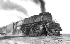 UP No. 4007 was a member of the first class of 4-8-8-4s constructed by American Locomotive Company in 1941. These locomotives, a type unique to the Union Pacific, had two sets of 68-inch disc drivers and 23-3/4x32-inch cylinders, a boiler pressure of 300 pounds per square inch, and a tractive effort of 135,375 pounds.