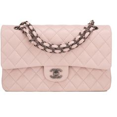 cdbe37df130d9 Chanel light pink Medium Classic double flap bag of caviar leather with  ruthenium hardware in store fresh condition. Buy authentic Chanel handbags  at ...
