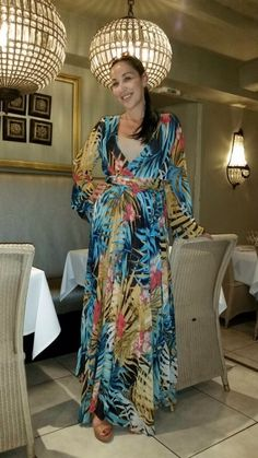 ericdress.com offers high quality  Ericdress V-Neck Long Sleeve Floral Maxi Dress Maxi Dresses unit price of $ 34.03.