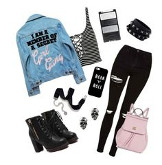 """ROCK ""N"" ROLL"" by m-phil ❤ liked on Polyvore featuring Topshop, High Heels Suicide, Valentino, Casetify, Sweet Romance, Dolce&Gabbana, rockerchic, contestentry and rockerstyle"