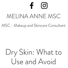 New blog post for your dry skin dramas.   http://www.melinaanne.com.au/single-post/2016/12/13/Dry-Skin-What-to-Use-and-Avoid