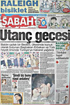 Sabah gazetesi 7 ekim 1996 Newspaper Headlines, Old Newspaper, Turkey History, Newspaper Archives, Historian, Once Upon A Time, Olay, Karma, Istanbul