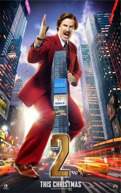 Anchorman 2 - The Legend Continues Character Poster: Will Ferrell als Ron Burgundy #anchorman2