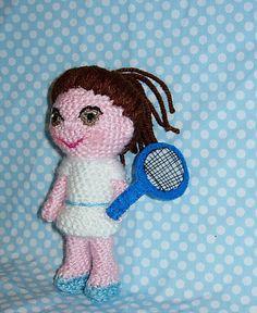 Amigurumi doll tennis star   Made to order by CrochetExpression, €9.90