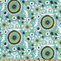 Aqua, green, white, and chocolate... pattern with circles