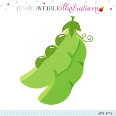 Little Peas Digital Clipart - JW Illustrations