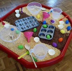 Learning and Exploring Through Play: 44 Tuff Spot Play Ideas Eyfs Activities, Nursery Activities, Easter Activities, Infant Activities, Activities For 2 Year Olds At Nursery, Family Activities, Health Activities, Indoor Activities, Preschool Activities