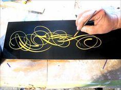 Scroll pinstriping closeup flourishes and pinstriping httpyoutubewatchvtcwekundpfe publicscrutiny Gallery