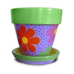 25 Simple Easy Flower Pot Painting Ideas 5 - Craft Home Ideas Clay Flower Pots, Flower Pot Crafts, Clay Pot Crafts, Home Crafts, Painted Clay Pots, Painted Flower Pots, Hand Painted, Mosaic Pots, Terracotta Pots