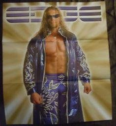 Wwe Wrestling Double Sided Edge 21 x 24 Poster WWF Raw Smackdown Magazine Adam Copeland by TheWrestlingBurn on Etsy