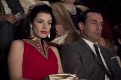 Jon Hamm and Jessica Paré in Mad Men Men Fashion Photo, Mad Men Fashion, 1960s Fashion, Film Fashion, Vintage Fashion, Jessica Paré, Hair Pictures, Fashion Pictures, Style Pictures
