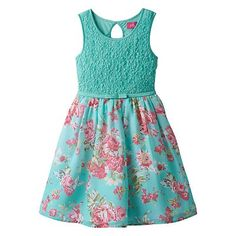 Pinky Los Angeles Textured Floral Dress - Girls 7-16
