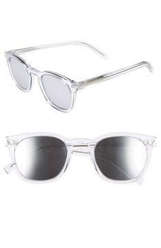 f5ab9dd004f3 Free shipping and returns on Saint Laurent 49mm Retro Sunglasses at  Nordstrom.com. Mirrored