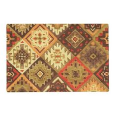 "Title : 761, Tribal, Geometric, Calico Placemat  Description : Tribal-Geometric-Ethnic Patterns, include Stripes, Arrows, Triangles, Animal-Drawings, ""Woodland-Animals, Floral, Cross, Circles, Plus Signs, Broken Checks, Abstract, ""Spiritual-Inspired"", ""Sacred-Geometric-Shapes, ""Symbolic-Shapes, Feathers, Mystique, Spirits, ""Indian-Language-Symbols"", ""Native-American Symbols"", ""Native-American-Pottery-Designs"",  Product Description : check out our sire for full description"