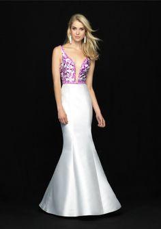 49548a26010 Buy Australia 2018 V-neck Lace Up Satin Blue-white Mermaid Sweep Sleeveless  Prom   Homecoming Dresses 727 at AU 172.79