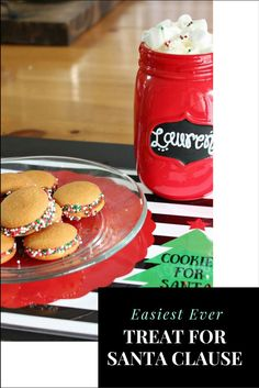 Get the kids in on the fun of creating a easy holiday cookies for Santa. Paired with delicious hot chocolate and this adorable downloadable placemat you are ready for Santa in an instant! #ChristmasCookies #Christmas Easy Holiday Cookies, Christmas Cookies, Mason Jar Crafts, Mason Jar Diy, Crafts To Make And Sell Unique, All Things Christmas, White Christmas, Diy Christmas, Diy Home Accessories