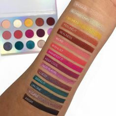 Chasing rainbows eyeshadow palette review and swatches. How gorgeous are these rainbow shades? #beauty #makeupswatches #eyeshadow #eyeshadowswatches #review #beautyreview #makeuppalettes #palettes #rainbow