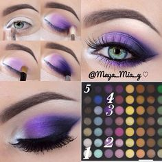 In order to transform your eyes and improve your good looks, having the best eye make-up recommendations can really help. You want to be sure to put on make-up that makes you start looking even more beautiful than you are already. Eye Makeup Diy, Purple Eye Makeup, Eye Makeup Steps, Mac Makeup, Love Makeup, Eyeshadow Makeup, Beauty Makeup, Purple Eyeshadow Looks, Eyeshadow Palette