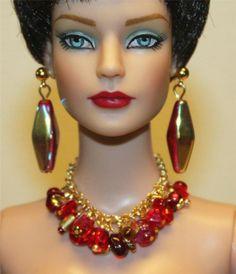 """Crimson"" Jewelry Set for Tonner Tyler Cami Ellowyne DeeAnna Gene Sybarite"