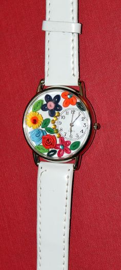 quilled wrist watch.. to place order, email     craftedcreations11@gmail.com