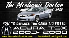 This video will show you step by step instructions on how to replace the cabin air filter on a Acura TSX Acura Tsx, Air Filter, Step By Step Instructions, Filters, Cabin, Cabins, Cottage, Wooden Houses