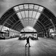 Lonely traveller by Ragnar B. Varga Ragnar, Train Station, Bergen, Lonely, Street Photography, Norway, Photographs, Louvre, Building