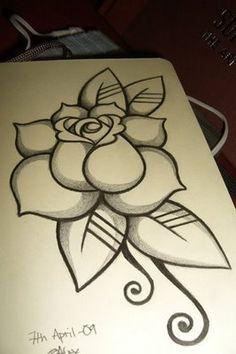 Oldschool Rose Tattoo B O Tattoodonkeycom