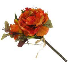 Orange Mini Rose, Hydrangea, Dahlia & Peony Bush