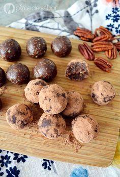 Trufas saludables de chocolate www.pizcadesabor.com