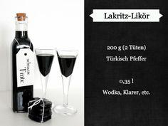 [Rezept] Lakritz-Likör - ein last minute Weihnachtsgeschenk