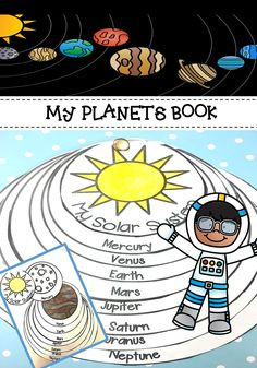 An eight planets solar system book to teach the planets. kindergarten, first grade, second grade and homeschool students will have fun learning the planets with this simple book.