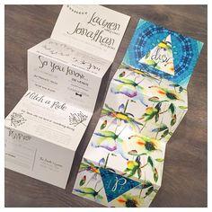 31 best folded wedding invitations images on pinterest folded