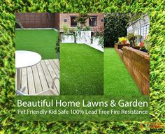 Beautiful Synthetic Lawn : Pet Friendly Kid Safe Quality Synthetic Grass For . Beautiful Home Gardens, Beautiful Homes, Fake Lawn, Lawn And Garden, Home And Garden, Synthetic Lawn, Fire Kids, Stepping Stones, Grass