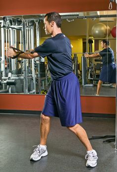 Cable Rotations Exercise - a great rotational core strength exercise. Great for the rotary athlete population