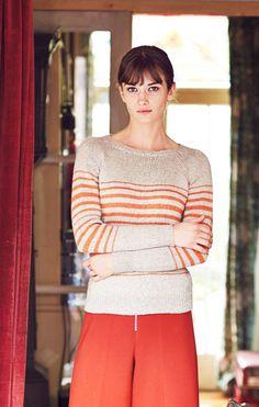 Raidallinen raglanpusero naiselle Knitting Patterns, Knit Crochet, Turtle Neck, Pullover, Stars, Sewing, Sweaters, Pattern Ideas, Crocheting