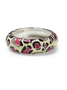 Sequin Animal Print Wide Bracelet - would look super cute paired with the black and white version too