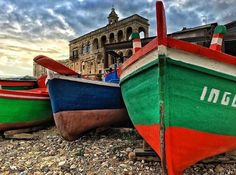 Thanks @andrewlama89 the beauty of An Abbey on The Sea & The colors of the Fishermen Boats #WeAreInPuglia #polignano #masseriadolcevita #weekend #masseriatorrecoccaro